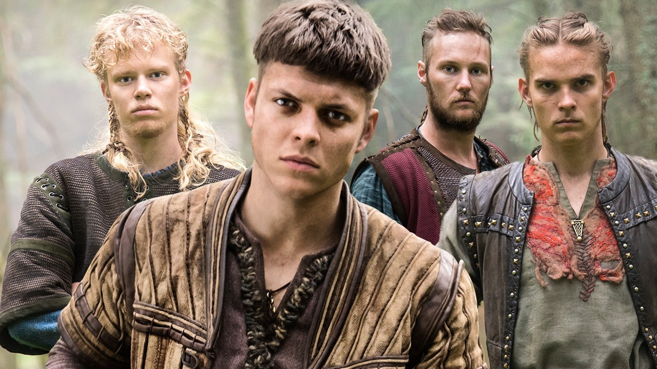 Ragnar Lothbroks sons on the tv show Vikings on History